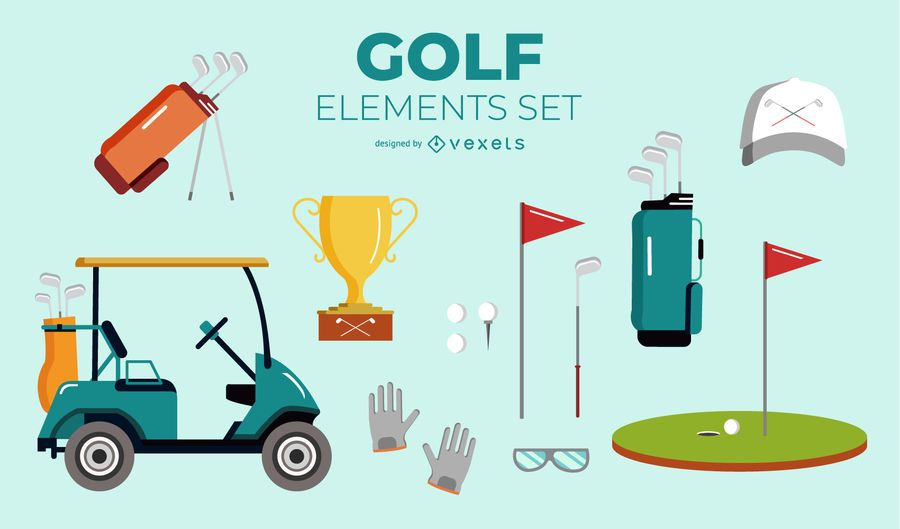 Conjunto de elementos de golfe