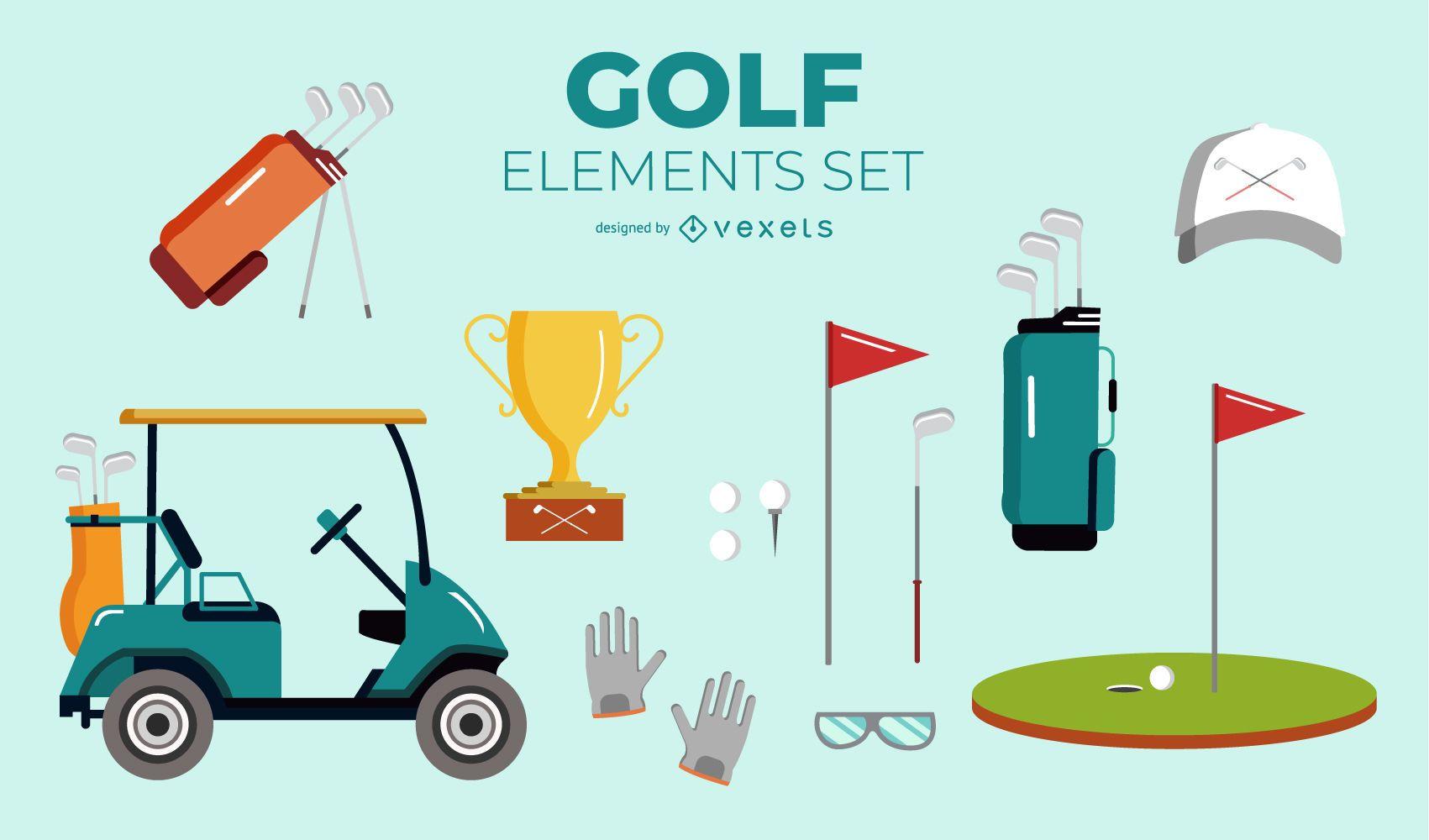 Golf Elements Set