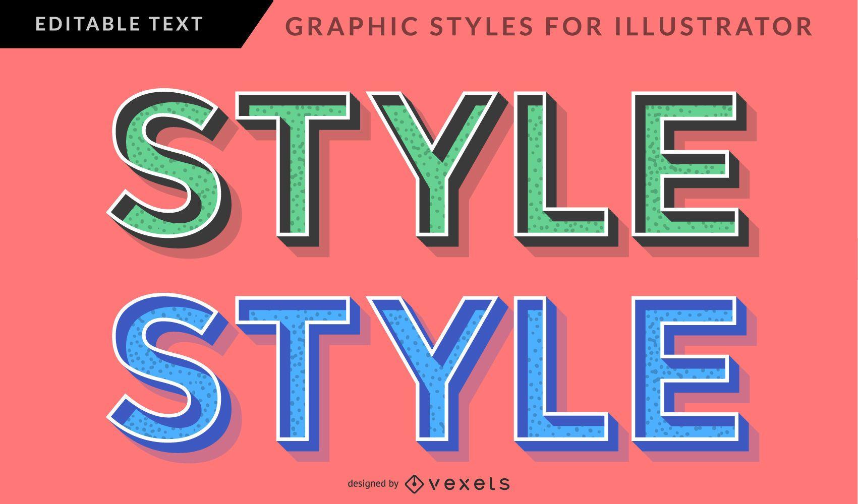 3D Retro Graphic Style