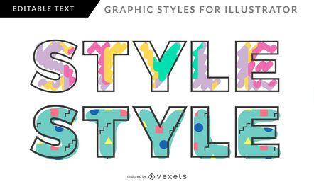 Memphis-Stil für Grafikdesign