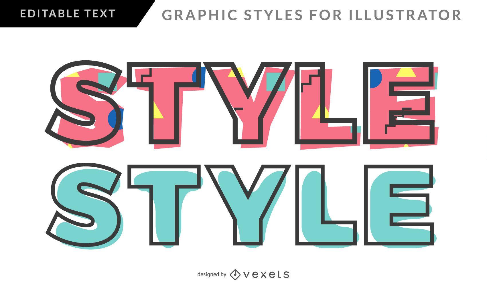 Memphis Graphic Style