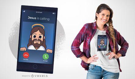 Jesus, der T-Shirt Entwurf nennt