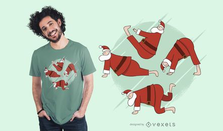 Yoga Santa T-Shirt Design