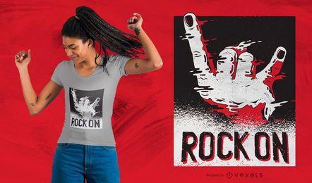 Rock en diseño de camiseta