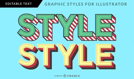 Estilo gráfico vintage multicolorido