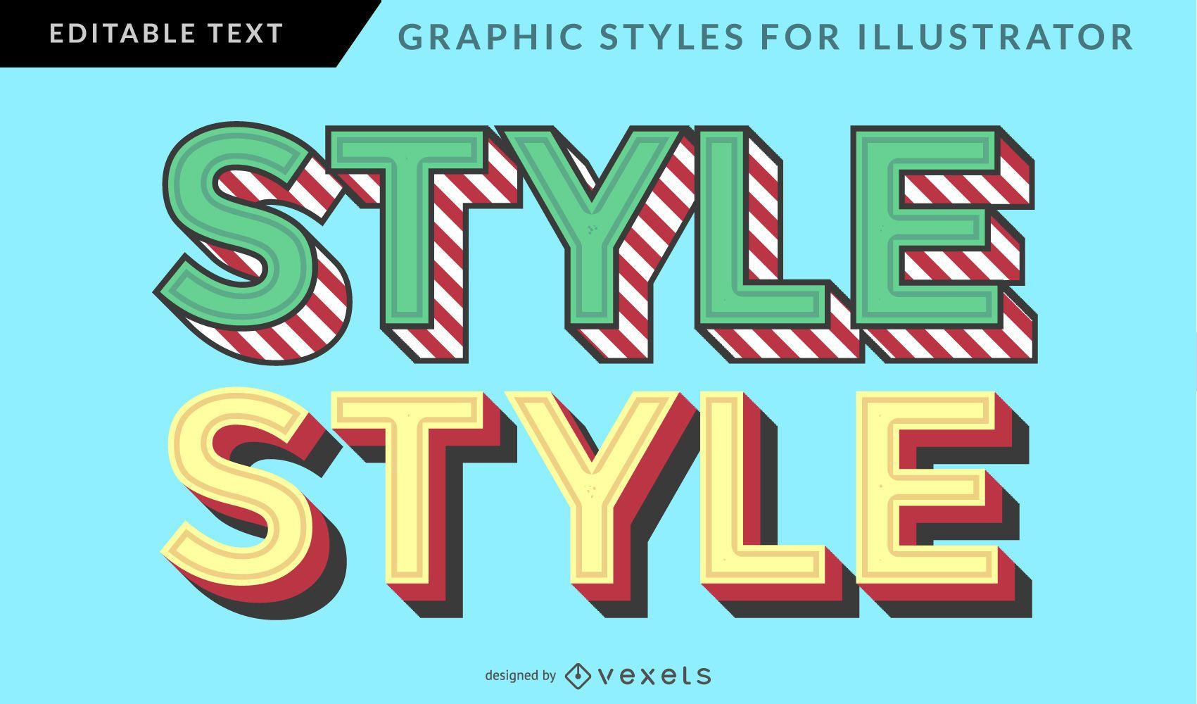 Estilo gráfico vintage multicolor