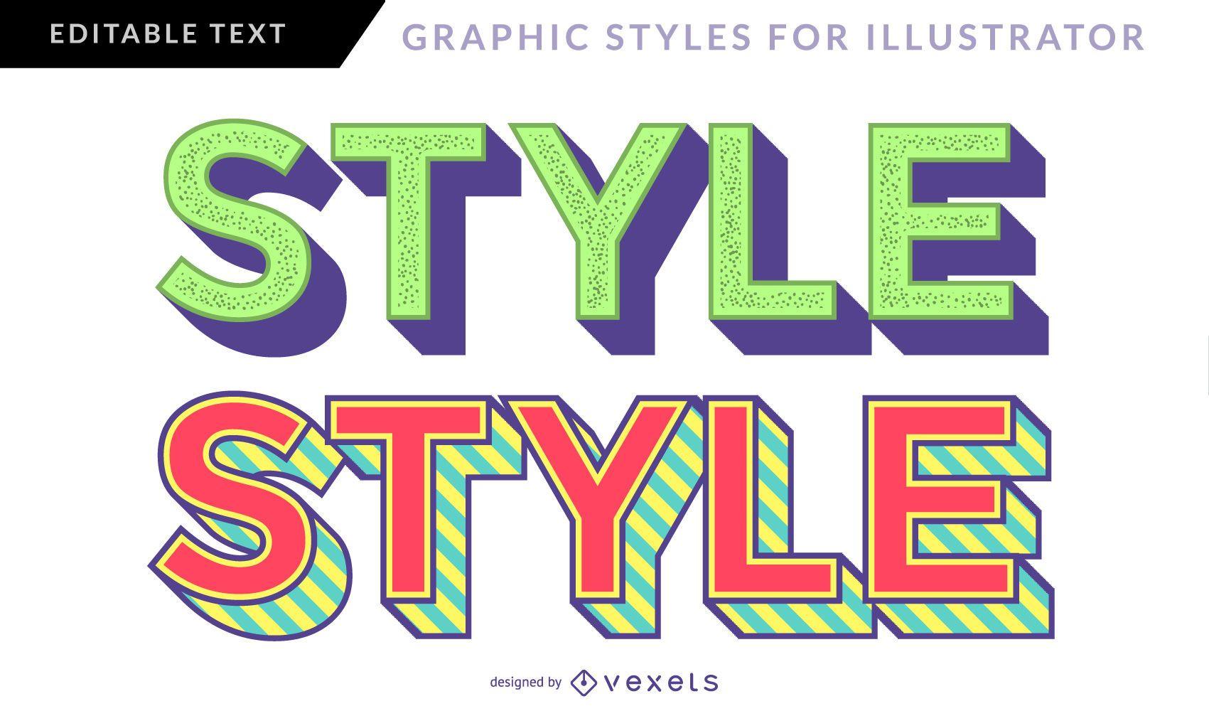 Neon Vintage Graphic Style
