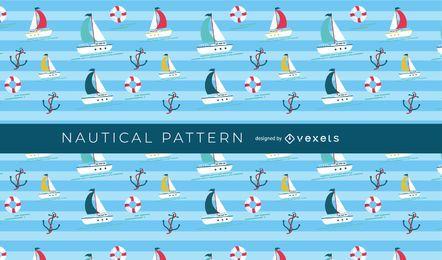 Seamless Nautical Boat Pattern