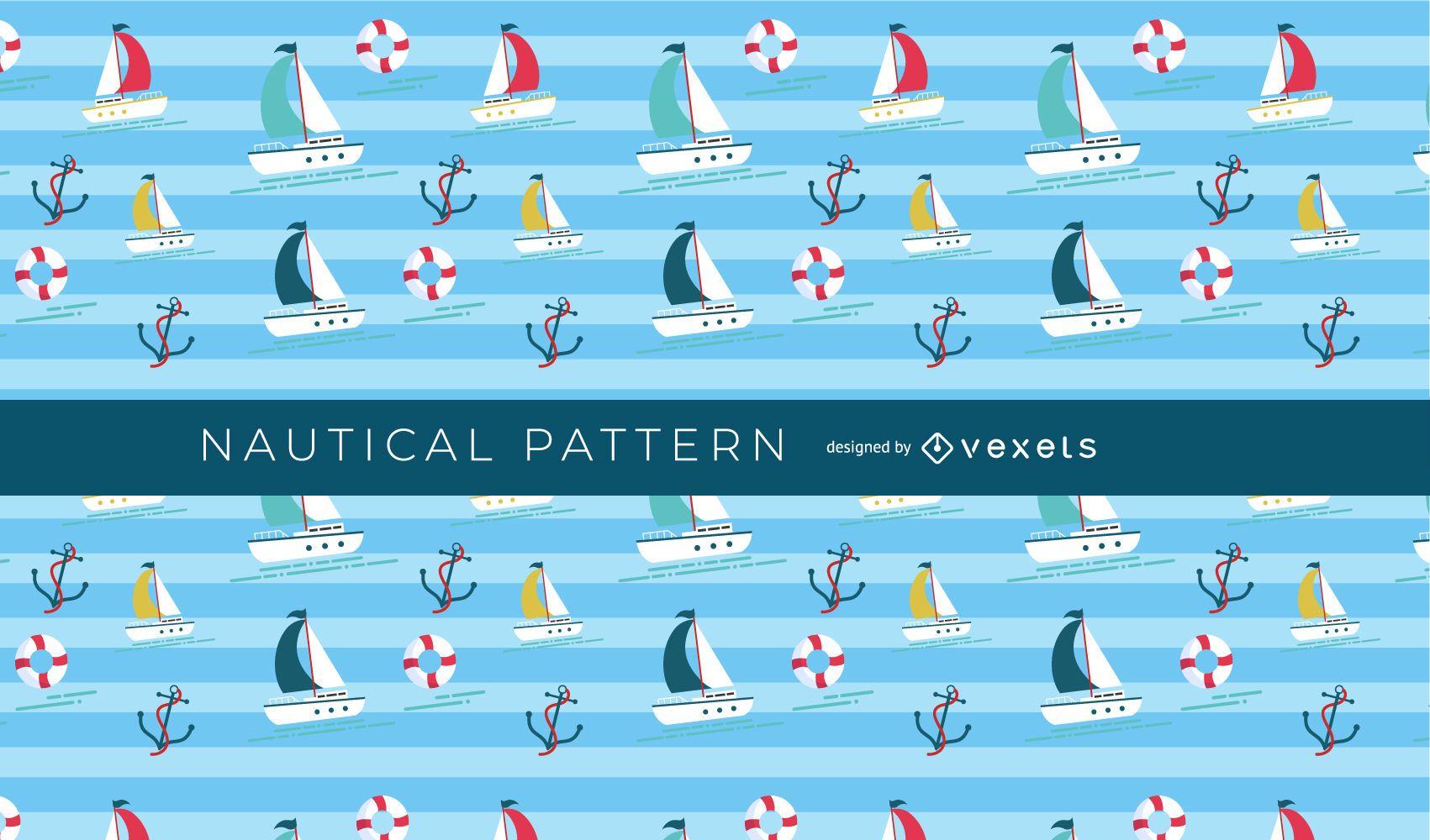 Patrón de barco náutico sin costuras