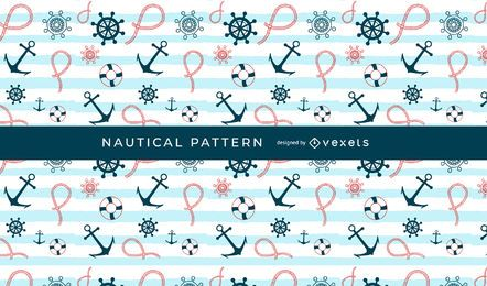 Seamless Nautical Pattern Design