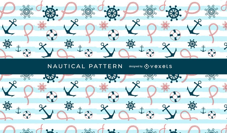 Seamless Nautical Pattern Design