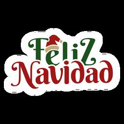 Feliz Navidad Beschriftung Nachricht
