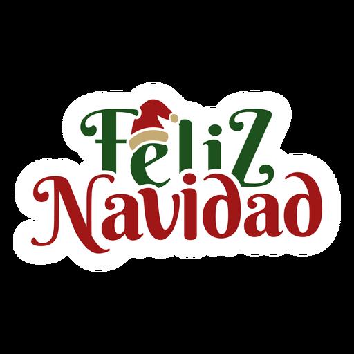 Feliz navidad lettering message
