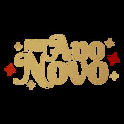 Feliz ano novo Schriftzug