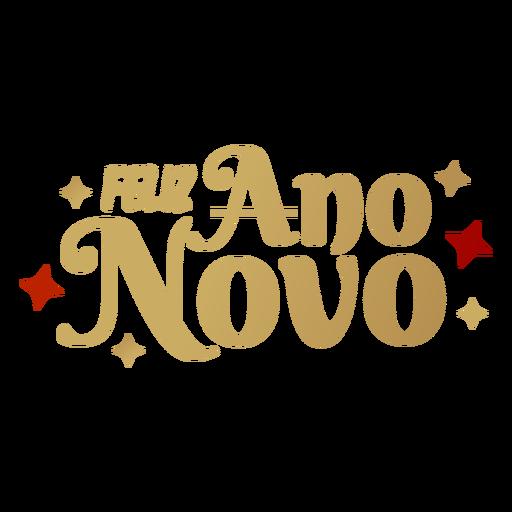 Letras de Feliz ano novo Transparent PNG