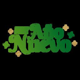 Feliz ano nuevo lettering mensagem