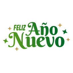 Feliz ano nuevo lettering message