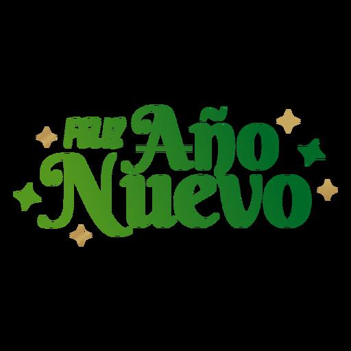 Feliz ano nuevo lettering message Transparent PNG