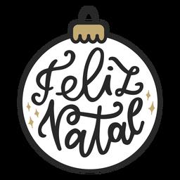 Feliz natal lettering