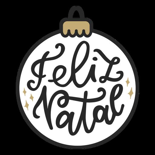 Feliz natal lettering Transparent PNG