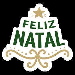 Feliz natal lettering message