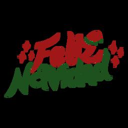 Feliz navidad lettering