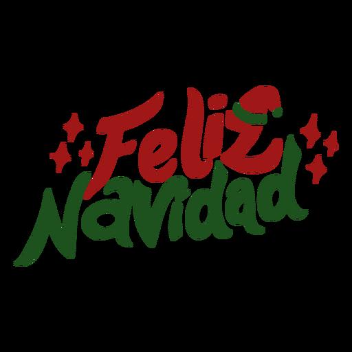 Feliz navidad lettering Transparent PNG