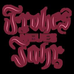 Frohes neues jahr letras