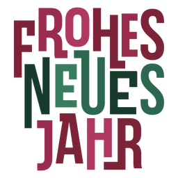 Frohes neues jahr lettering message