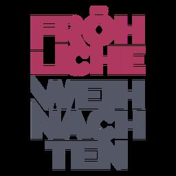 Fröhliche weihnachten deutscher schriftzug