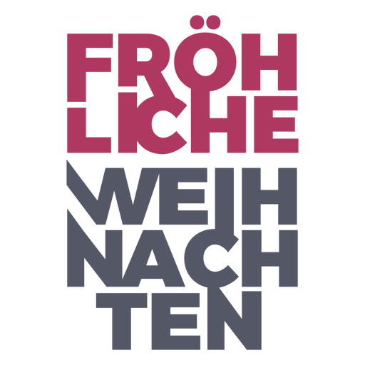 Letras alemãs Fröhliche weihnachten Transparent PNG