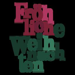 Letras de Fröhliche weihnachten