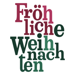 Letras Fröhliche weihnachten