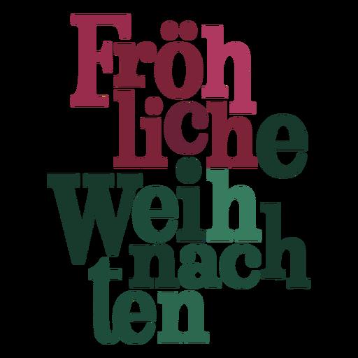 Letras Fröhliche weihnachten Transparent PNG