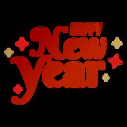 Frohes neues Jahr Schriftzug