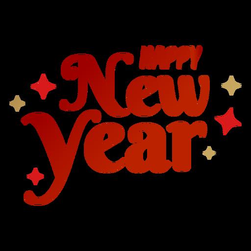 Feliz ano novo lettering Transparent PNG