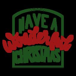 Tener un maravilloso mensaje de letras de Navidad