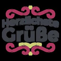 Letras Herzlichste grüße