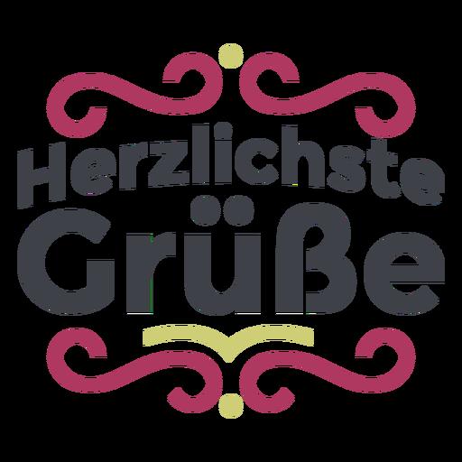 Letras Herzlichste grüße Transparent PNG