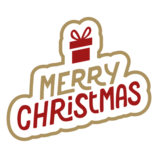 Merry christmas lettering Transparent PNG