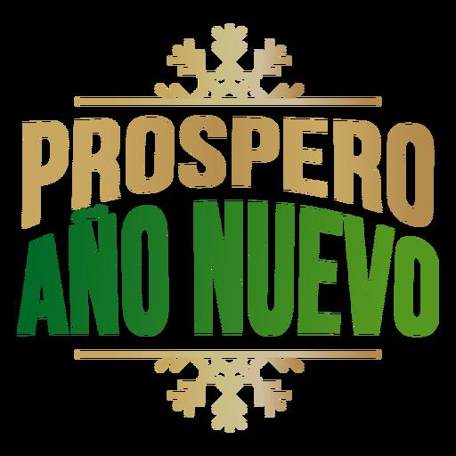 Prospero ano nuevo lettering Transparent PNG