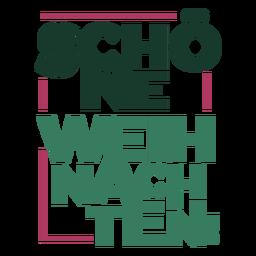 Letras de natal Schöne Weihnachten