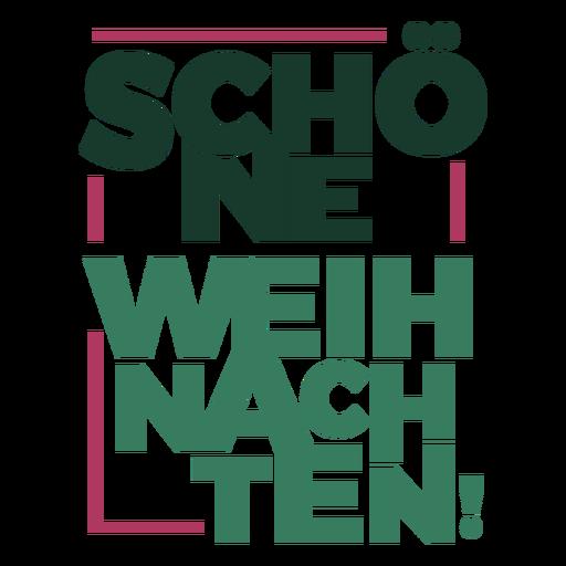 Letras de natal Schöne Weihnachten Transparent PNG