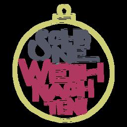 Schöne weihnachten lettering message