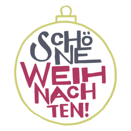 Schöne weihnachten mensaje con letras