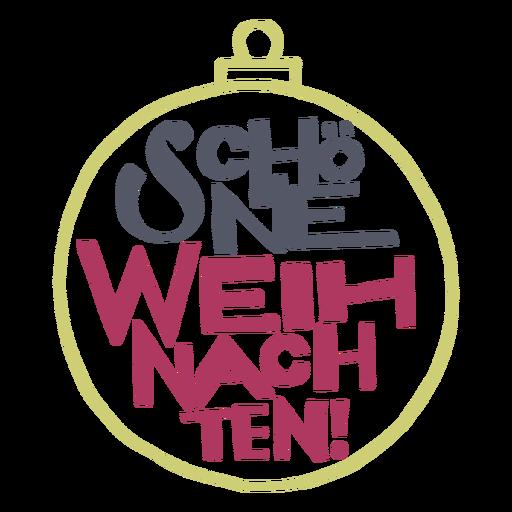 Mensagem de letras Schöne weihnachten Transparent PNG