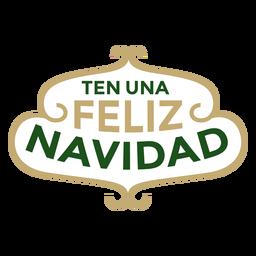 Zehn una feliz navidad schriftzug