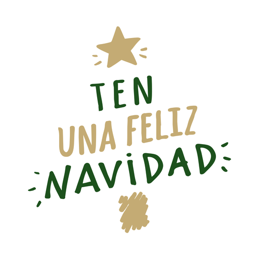 Ten una feliz navidad mensaje de letras Transparent PNG