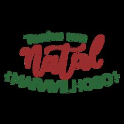 Tenha um natal lettering maravilhoso