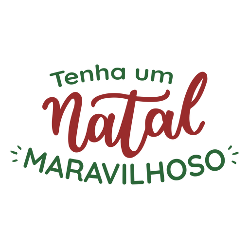 Tenha um natal maravilhoso lettering Transparent PNG